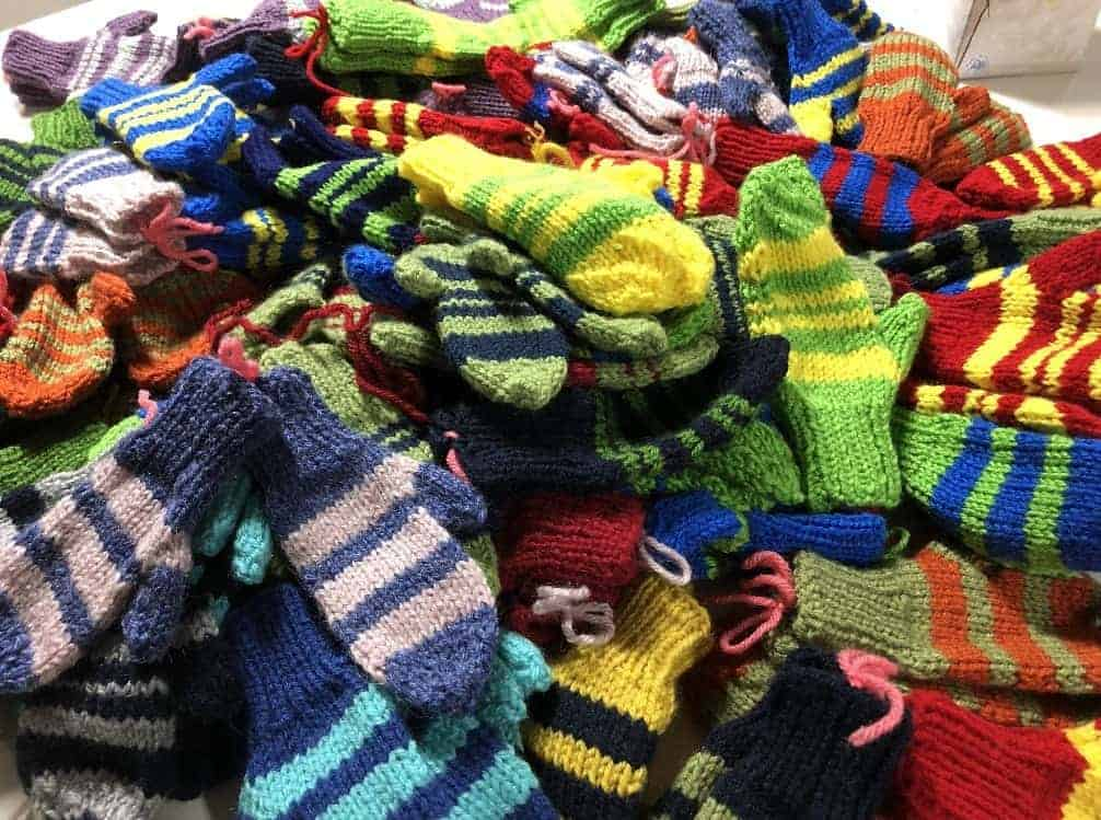 Mittens for Detroit donations